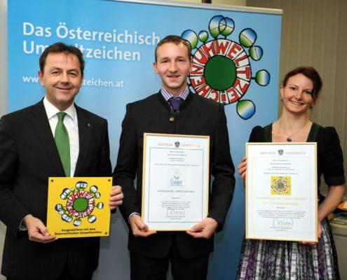 Verleihung des Umweltzeichens 2012