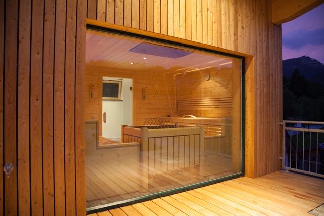 Sauna Ansicht außen