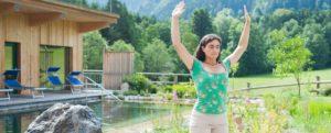 Yoga-Lehrerin Sara Sellier